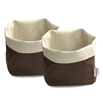 ILSA - Set of two square bread baskets BROWN