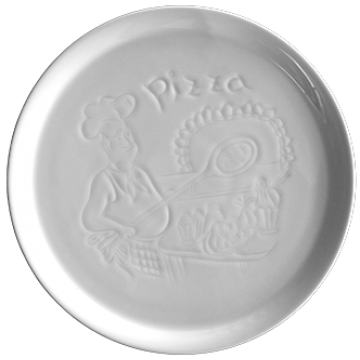 A plate pizza 30 cm Relief