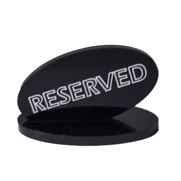 Acrylic Plate RESERVE 7cm