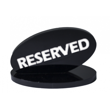 Acrylic Plate RESERVE 9 cm