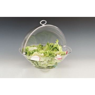 ACRYLIC bowl with roll top lid 34cm