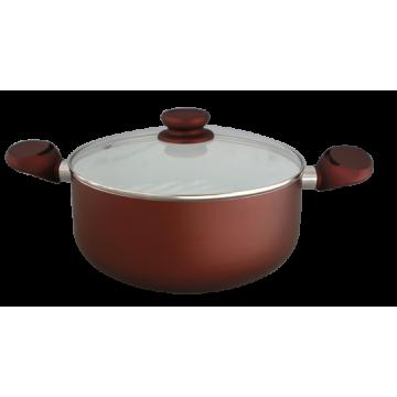 pot TANGO 24 cm brown