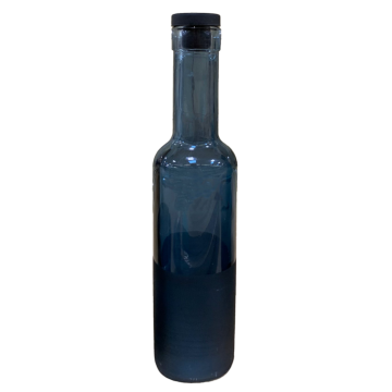 COBALT-Decorated Oil Bottle with silicone lid BLUE 250cc