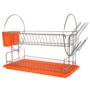 Stand dishes on 2 fl. with dashboards - orange
