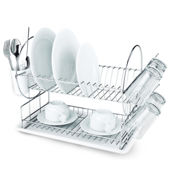 Stand dishes on 2 fl. with dashboards - TRANSPARENT