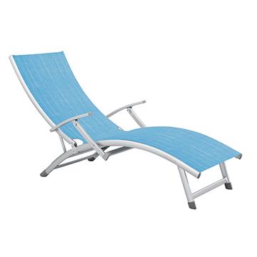 Aluminum sunbed with armrest HG