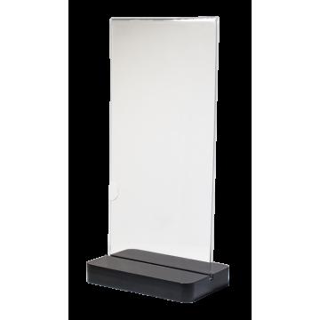Acrylic menu stand h21 cm