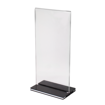 Acrylic menu stand h20.5 cm