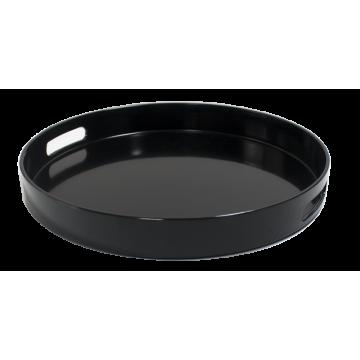 Charger deep serving tray BLACK ø33 cm