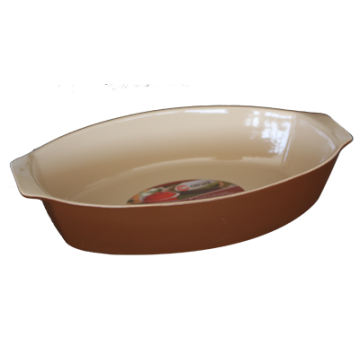 Oval baking dish with handles 38.5x26x8 sm