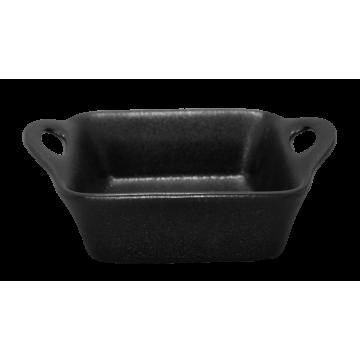 Ceramic rectangular baker 12cm BLACK