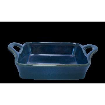 Ceramic rectangular baker 18cm BLUE