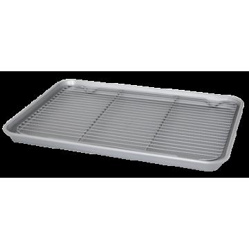 BAKERY-Baking tray with wire grill 44.5х32х3cm