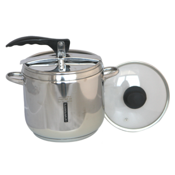 Pressure cooker 7 lt with glass cover