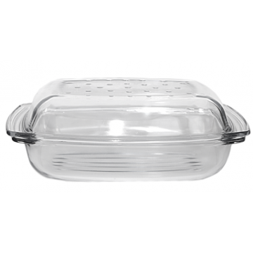 TERMISIL - Rectangular casserole with grill & drop system 5,1lt