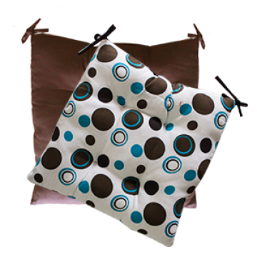 Pillow - BROWN WITH DOTS