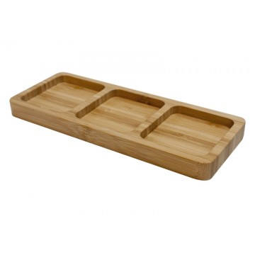 Bamboo boards serving with 3 compartments