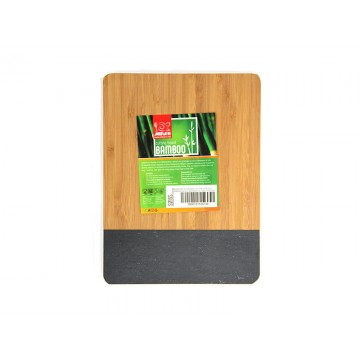 Bamboo board rectangular for presentation with mica 21.5 cm